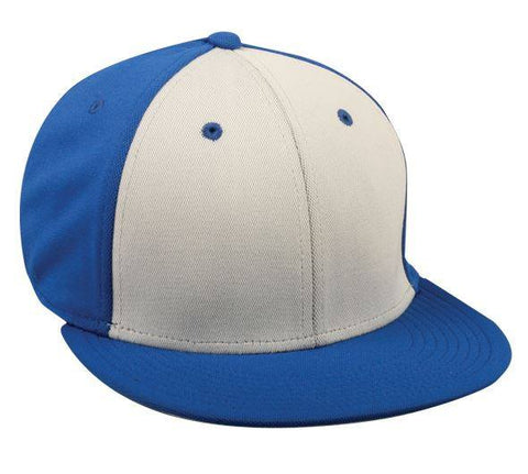 ProFlex Flat Visor Fitted Cap - 3 Tone Colors - Baseball Hats -Sport-Smart.com