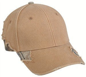 Solid Frayed Cap with Camo - Sport-Smart.com