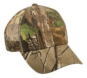 Washed Cotton Mesh Back Camo Cap - Sport-Smart.com