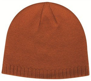 Decorative Ribbed Beanie Hat - Knit Fleece Beanie Caps -Sport-Smart.com