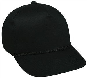High Profile Cap Twill with Cord - Baseball Hats -Sport-Smart.com