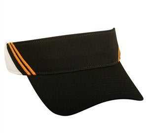 Moisture Wicking Visor with Contrast Stripes - Visors -Sport-Smart.com