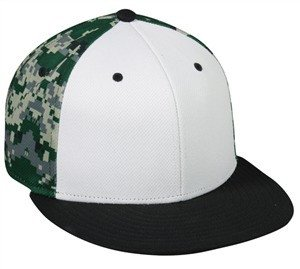 Adjustable Digital Camo Flat Visor Cap - Baseball Hats -Sport-Smart.com