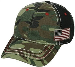 Camo with Flag Hat - Hunting Camo Caps -Sport-Smart.com