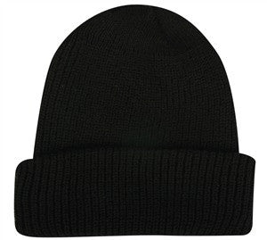 Cuffed Knit Beanie Made in USA - Knit Fleece Beanie Caps -Sport-Smart.com