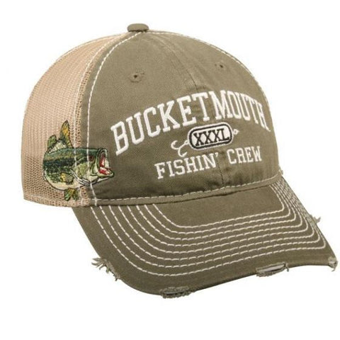 Bucket Mouth Bass Mesh Back Hat - Fishing Hats and Visors -Sport-Smart.com