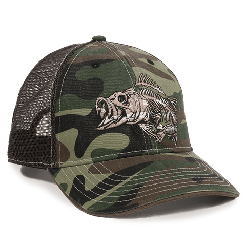 Camo Mesh Back Hat with Bonefish Embroidery - Fishing Hats and Visors -Sport-Smart.com