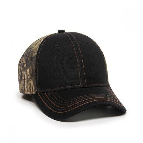Canvas Hat with Camo Back Panels