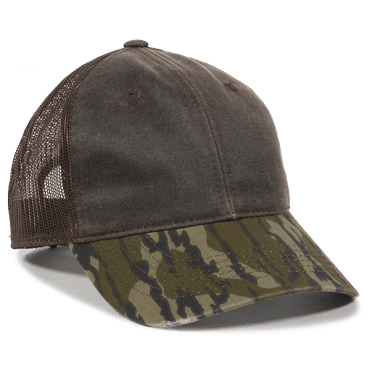 Weathered Cotton Mesh Back with Camo Cap - Hunting Camo Caps -Sport-Smart.com