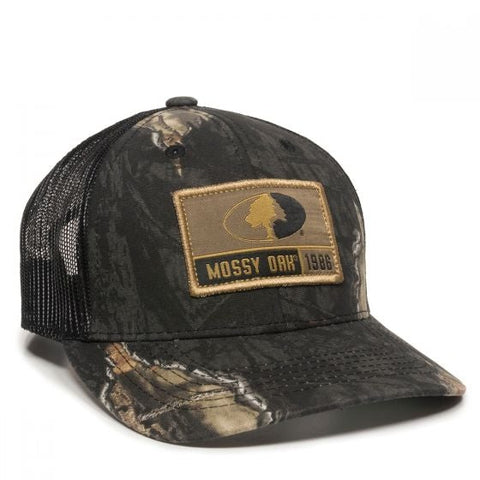 Mossy Oak Logo Scout Patch Mesh Back Hat - Hunting Camo Caps -Sport-Smart.com