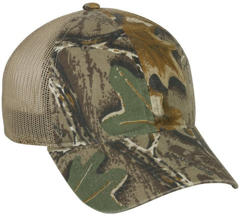 Camo Front With Solid Mesh Back Cap - Hunting Camo Caps -Sport-Smart.com