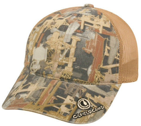 Oilfield Camo Mesh Back Cap - Sport-Smart.com