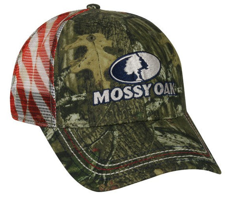 Mossy Oak Patriotic Mesh Back Camo