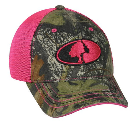 Mossy Oak with Pink Mesh Ladies Camo