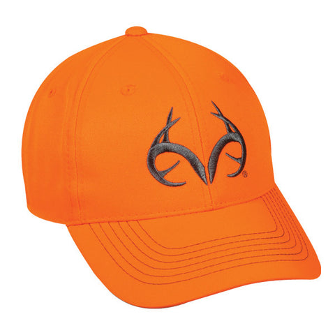 Blaze Orange Team Realtree Logo Hat - Hunting Camo Caps -Sport-Smart.com