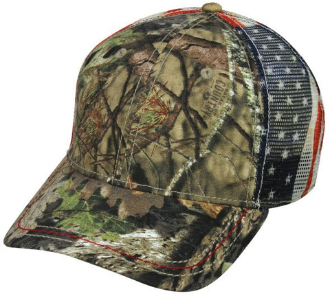 Camo With Flag Mesh Back Cap - Hunting Camo Caps -Sport-Smart.com