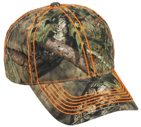 Camo Hat with Heavy Construction Stitch - Hunting Camo Caps -Sport-Smart.com