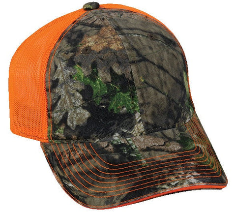 Garment Washed Camo with Mesh Hat