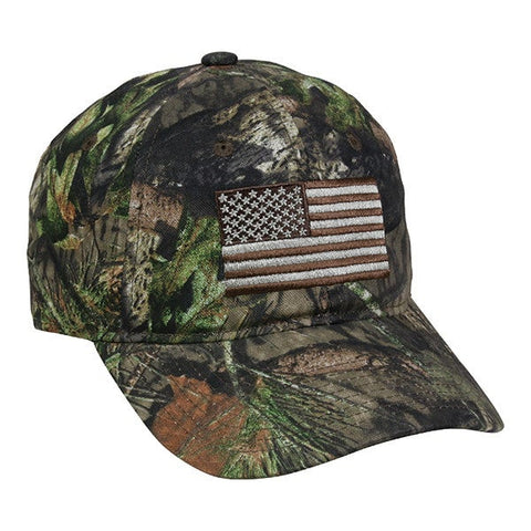 Camo with USA Flag Patch - Hunting Camo Caps -Sport-Smart.com