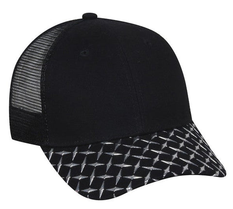 Diamond Plate Mesh Back Hat - Baseball Hats -Sport-Smart.com