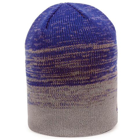 Two Tone Knit Beanie - Knit Fleece Beanie Caps -Sport-Smart.com