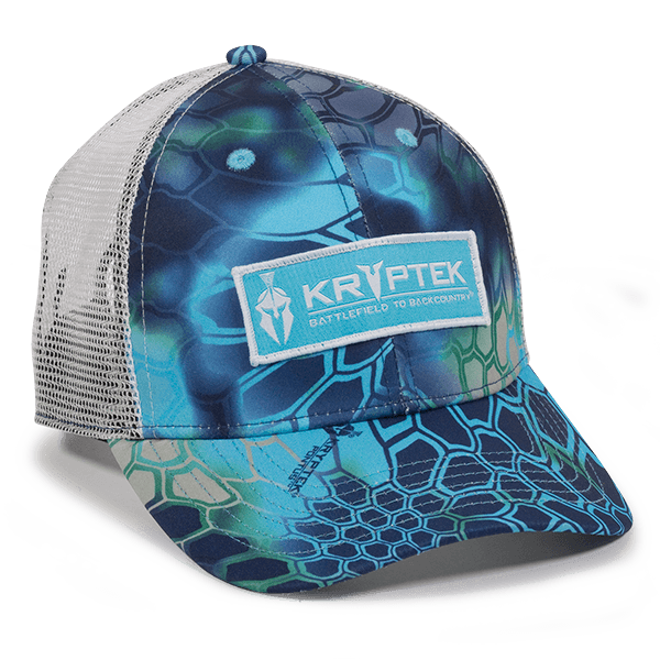 Kryptek Pontus with White Mesh Back Camo Hat - Fishing Hats and Visors  -Sport- ... 495ac56aa0be