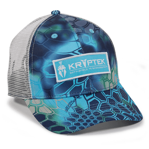 Kryptek Pontus with White Mesh Back Camo Hat - Fishing Hats and Visors -Sport-Smart.com