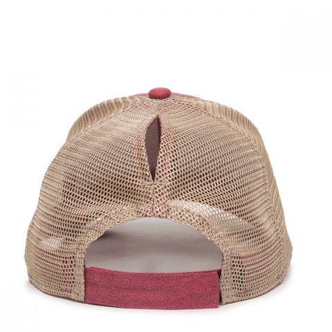 Ladies Fit Hat with Ponytail Mesh Back - Mesh Hats Caps -Sport-Smart.com