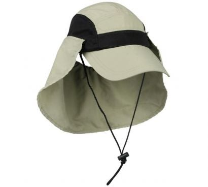 Moisture Wicking Cap With Removable Neck Guard - Sun Protection Hats -Sport-Smart.com