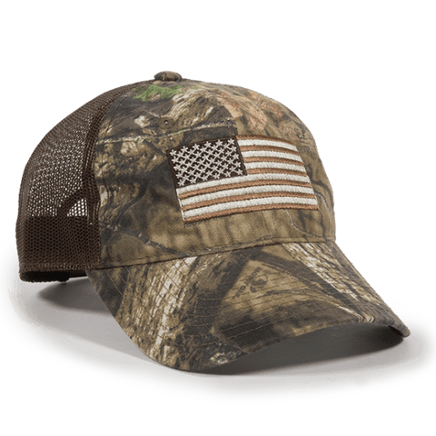 USA Flag Camo with Mesh Back Hat - Hunting Camo Caps -Sport-Smart.com