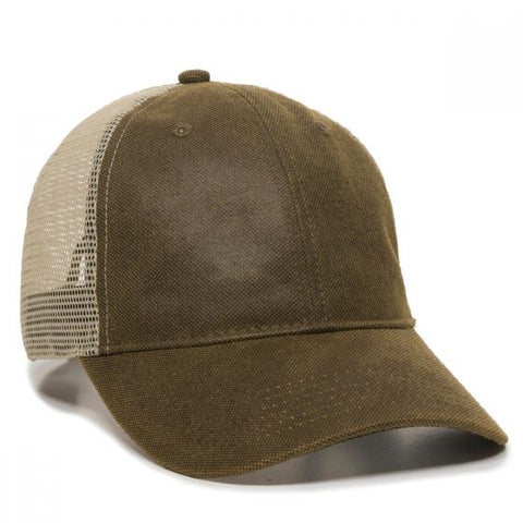 Weathered Canvas Mesh Back Hat