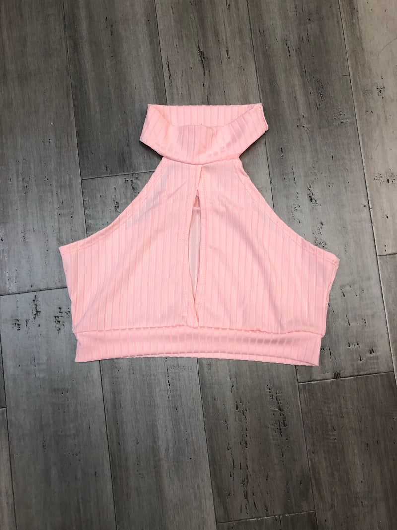 Soft pink mini blouse
