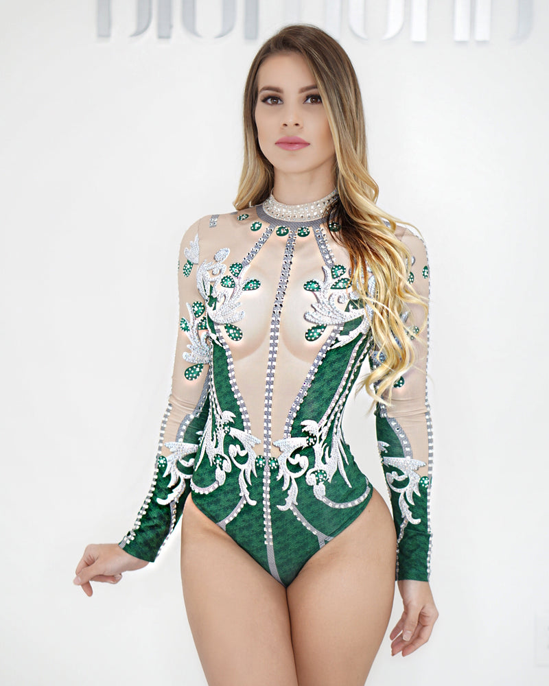 Emerald bodysuit