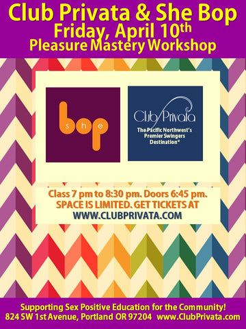 April 10th 2020 Pleasure Mastery Workshop: An Introduction to Erotic Blueprints™
