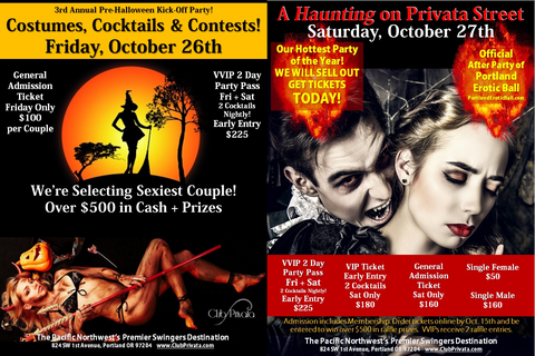 Club Privata Halloween Weekend VVIP Party Pass