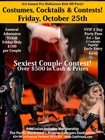 Costumes, Cocktails and Contests Single Female Ticket