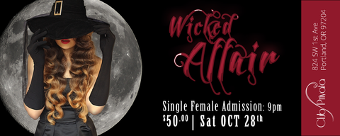 Club Privata Presents A Wicked Affair Halloween - Single Female Pass