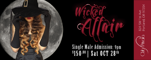 Club Privata Presents A Wicked Affair Halloween - Single Male Pass