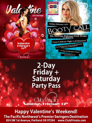 Valentines Weekend 2 Night (Friday and Saturday) Pass - Couples Ticket