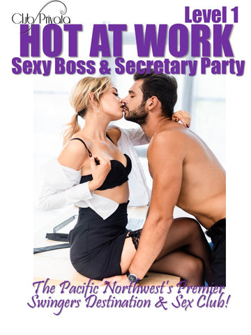 Hot at Work Sexy Boss & Secretary Party Level 1 - Single Male Ticket