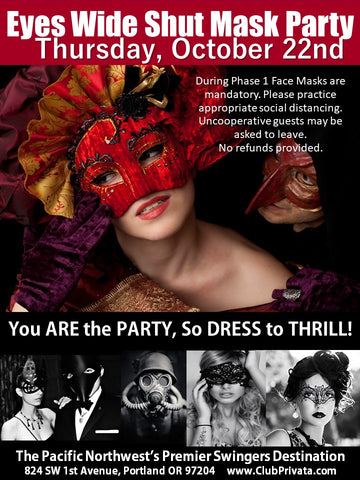 Eyes Wide Shut Mask Party - Couples Ticket