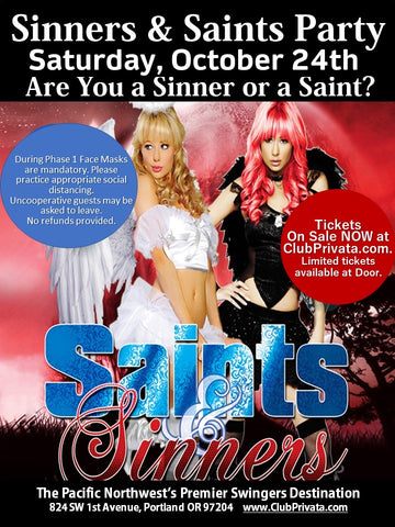 Sinners & Saints Party - Couples Ticket