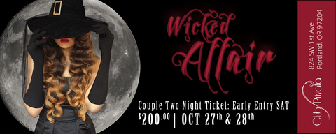 Club Privata Presents A Wicked Affair Halloween - 2 Night Couples Pass