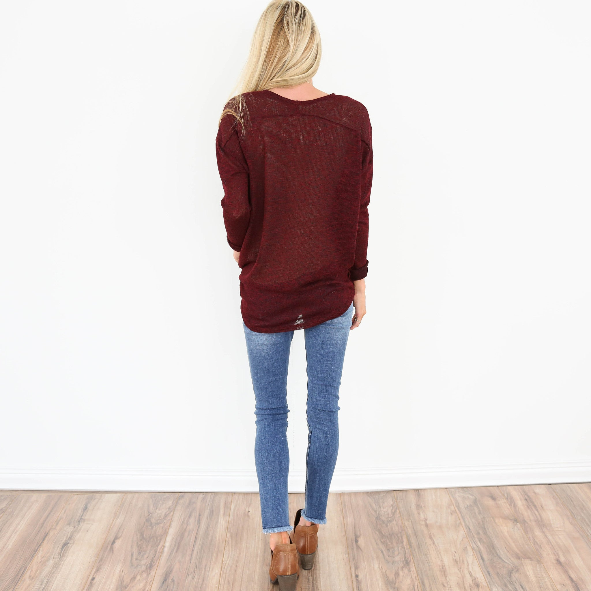 Angie Sweater in Burgundy