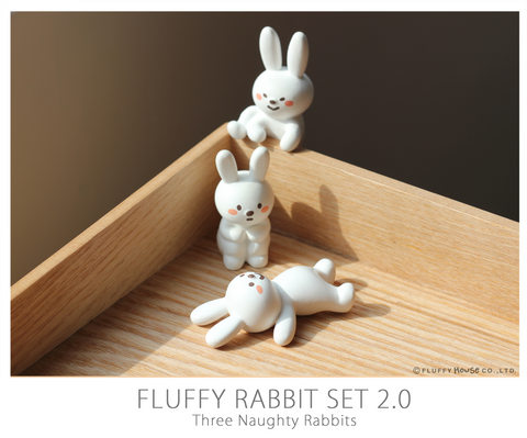 Fluffy Rabbit Set 2.0 (Three Naughty Rabbits) - Fluffy House