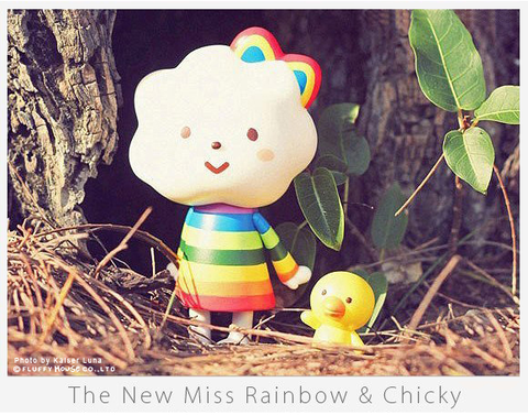 Miss Rainbow and Chicky - Fluffy House