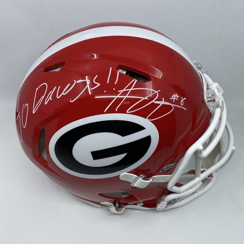 "AJ Green Signed Georgia Bulldogs Full Size Authentic Speed Helmet ""Go Dawgs"""