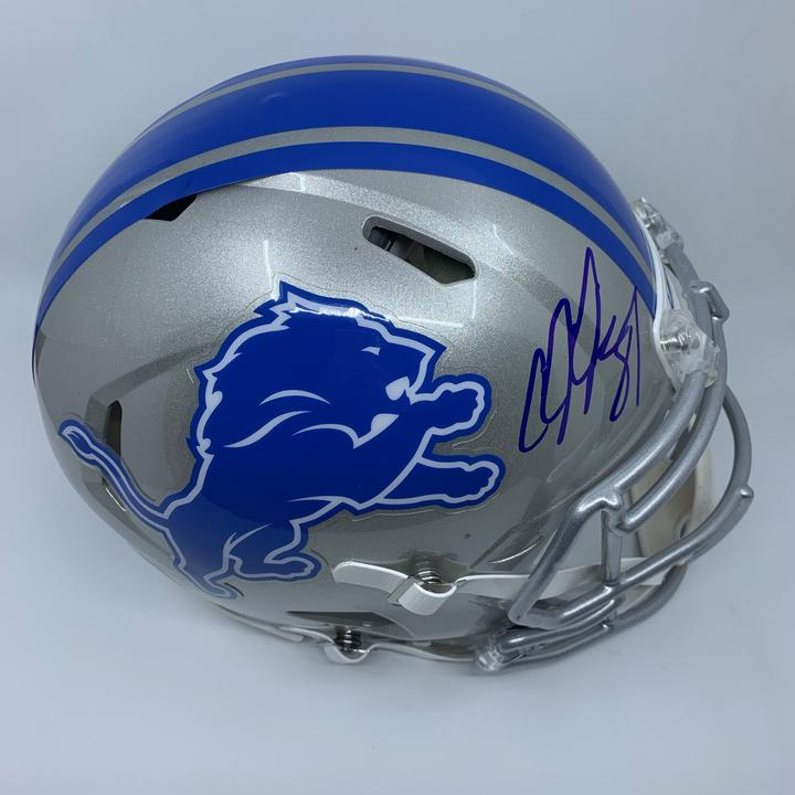Calvin Johnson Signed Detroit Lions Full Size Authentic Speed