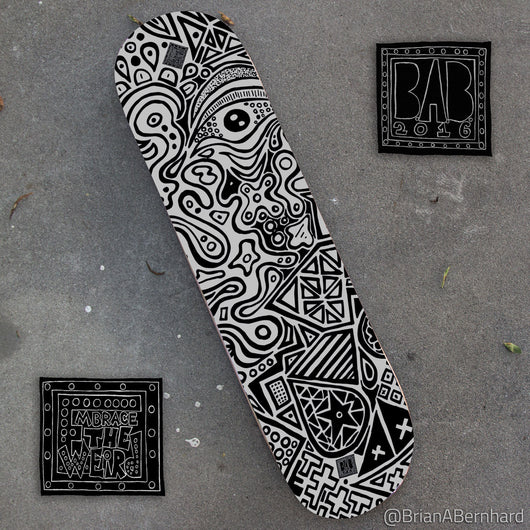 Observation Flow (L.E. Skateboard Deck)