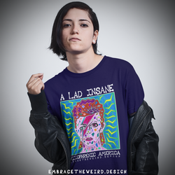 A Lad Insane - Schizophrenic America (Ladies T-shirt)